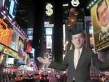 Wirtschaftsminiser am Times Square